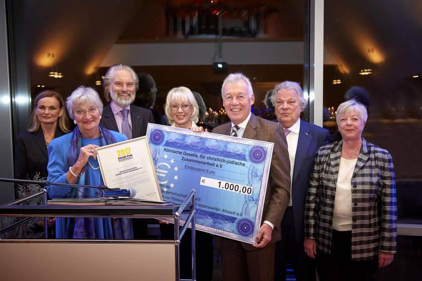 Altstadt-Preis 2017 an Kölnische Gesellschaft für christlich-jüdische Zusammenarbeit e.V.